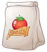 A pouch of tomato seeds — Stock Vector