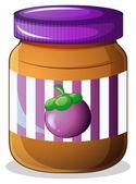 A jar of eggplant jam — Stock Vector