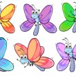 A group of colourful butterflies — Stock Vector #47876757