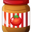 A jar of tomato jam — Stock Vector #47876819