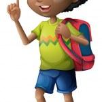 A Black schoolboy — Stock Vector #47878039