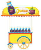 A pushcart selling fruit juice — Stock Vector