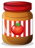 A jar of tomato jam — Stock Vector