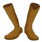 A pair of a fashionable brown boots — Stock Vector