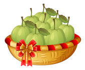 A basket of guavas — Stock Vector