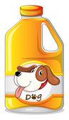 A galon of dog soap — Stock Vector