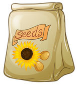 A pack of sunflower seeds — Stock Vector