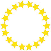 A round star template — Stock Vector
