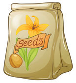 A pack of flower seeds — Stock Vector