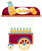 A pushcart selling orange juice — Stock Vector