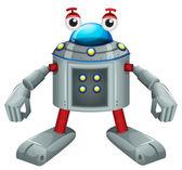 A cute gray robot — Stock Vector