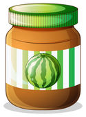 A jar of watermelon jam — Stock Vector