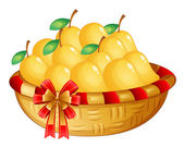 A basket of ripe mangoes — Stock Vector