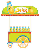 A wooden juice cart — Stock Vector