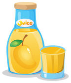 A bottle of mango juice — Stock Vector