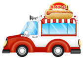 A vehicle selling hotdogs — Stock Vector