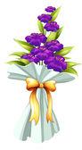 A boquet of fresh violet flowers — Stock Vector