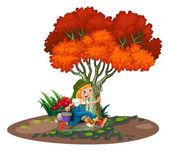 A happy young gardener — Stock Vector