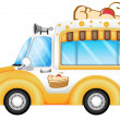 A vehicle selling cakes — Stock Vector
