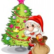 Santa Claus near the christmas tree — Stock Vector #47903595