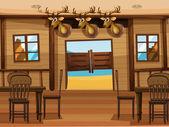 A saloon bar — Stock Vector