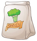 A pack of broccoli seeds — Stock Vector