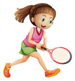 A female tennis player — Stock Vector