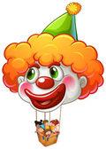 A clown balloon carrying kids — Stock Vector