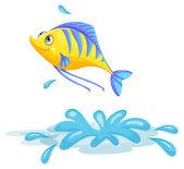 A yellow fish — Stock Vector