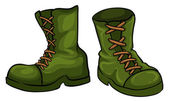A pair of green boots — Stock Vector