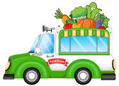 Vozidlo prodává čerstvá zelenina — Stock vektor