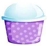 一个空的一次性纸杯蛋糕容器 — 图库矢量图片