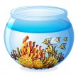 An aquarium with fishes — Stock Vector