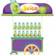 A guava fruit juice cart — Stock Vector #49029279