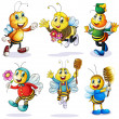 A group of happy bees — Stock Vector #49029355