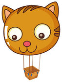 A big cat balloon — Vector de stock