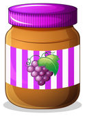 A jar of grape jam — Stok Vektör