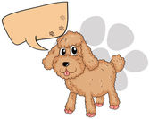 A brown dog with an empty callout — Stock Vector