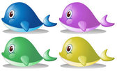 Four whales — Vector de stock