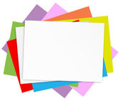 Empty colored papers — Stock Vector
