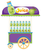 A guava fruit juice cart — Stock Vector