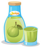 A bottle of guava juice — Stock Vector