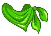 A green scarf — Stock Vector