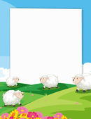 Sheeps Banner — Stock Vector