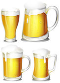 Set of beer — Stock Vector