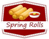 Spring rolls — 图库矢量图片