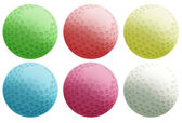 Six colourful balls — Stock Vector