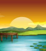 Sunny landscape — Stock Vector