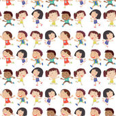 Boys and Girls — Stock Vector