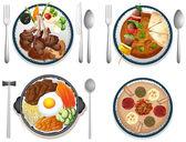 国际食品 — 图库矢量图片